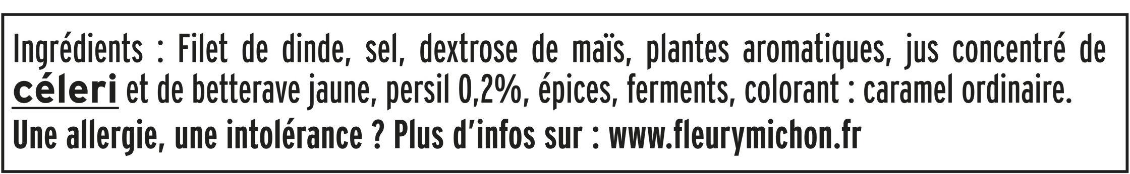 Rôti de dinde cuit Halal - 4tr - Ingrédients - fr