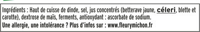 Jambon de dinde Halal - 4tr. - Ingrediënten - fr
