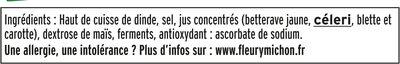 Jambon de dinde Halal - 4tr. - Inhaltsstoffe - fr