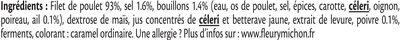 Rôti de poulet cuit 100% filet* - 4 tranches - Ingrédients - fr