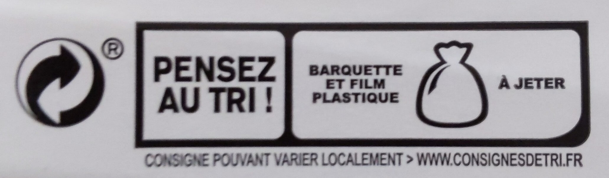 Rôti de poulet cuit 100% filet* - 4 tranches - Recycling instructions and/or packaging information - fr