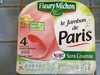 Le Paris sans couenne - 4 tr. - Nutrition facts - fr