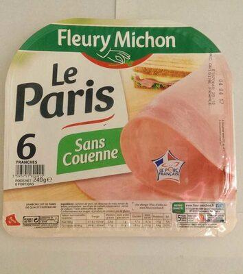 Le jambon de Paris sans couenne - 6 tr. - Produit - fr