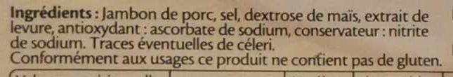 Le jambon de Paris sans couenne - 6 tr. - Ingrédients - fr