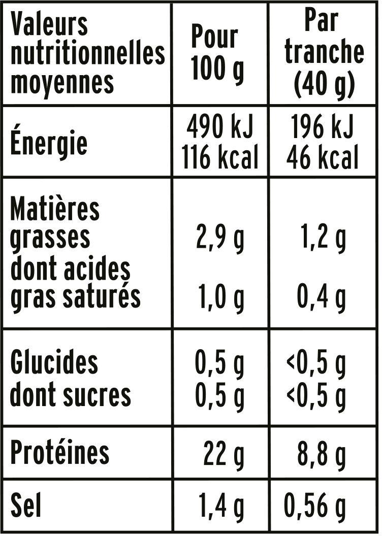 Simplement bon au torchon - 25% de Sel* - Voedingswaarden - fr