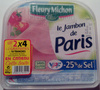 Le Jambon de Paris (- 25 % de Sel) Lot de 2 x 4 + 2 Gratuites = 10 Tranches - Product