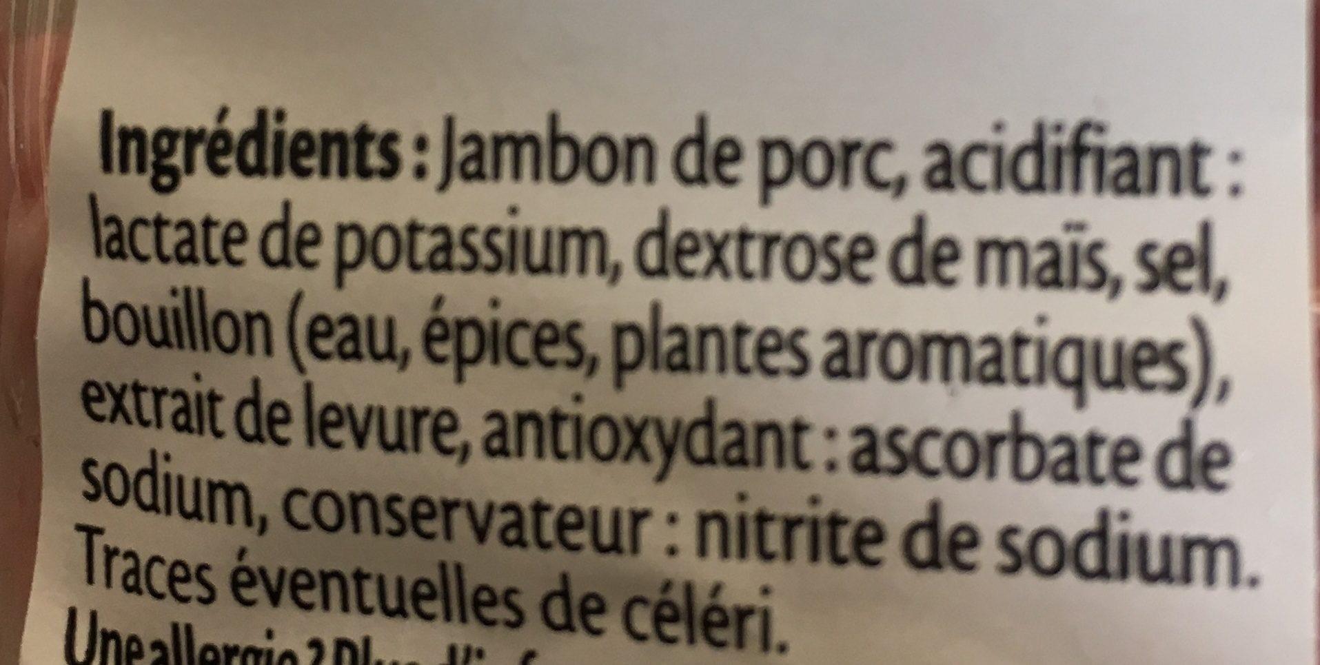 Dés de jambon de Paris - 2x75g. - Ingredients