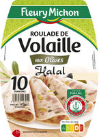 Roulade de volaille olives Halal - 10 tr. - Product
