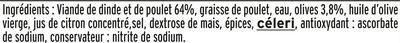 Roulade de Volaille - aux Olives - Halal - Ingrédients - fr