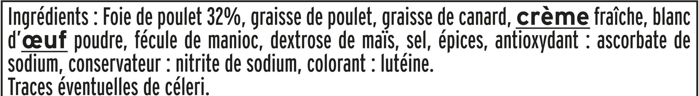Mousse de foie de volaille halal - 180 g. - Ingrédients - fr