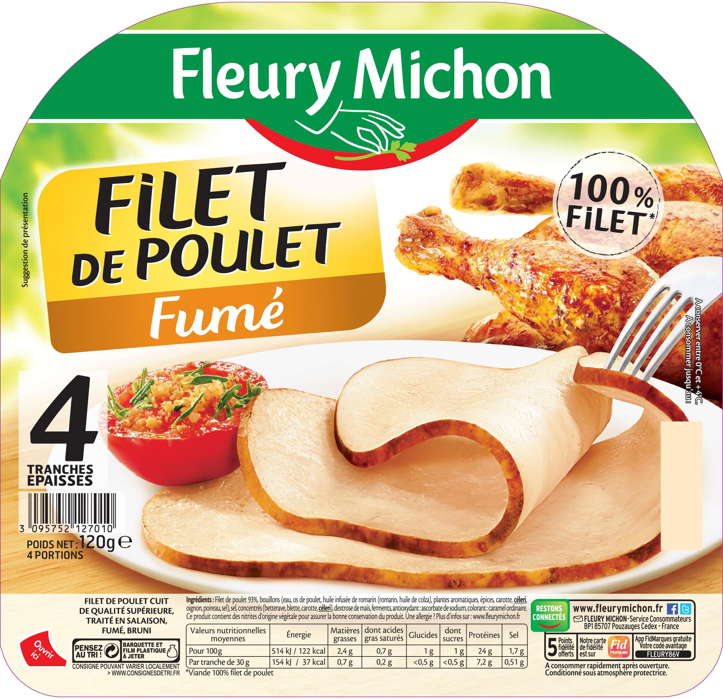 Filet de poulet fumé - 4 tranches épaisses - Product - fr