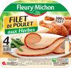 Filet de poulet aux herbes - 4 tranches épaisses - Produit