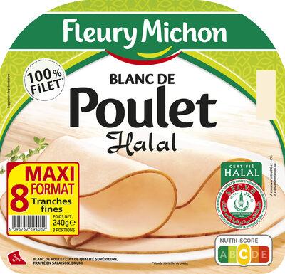 Blanc de poulet Halal - 8 tranches fines - Produit