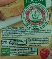 Mousse de volaille - Ingredients - fr