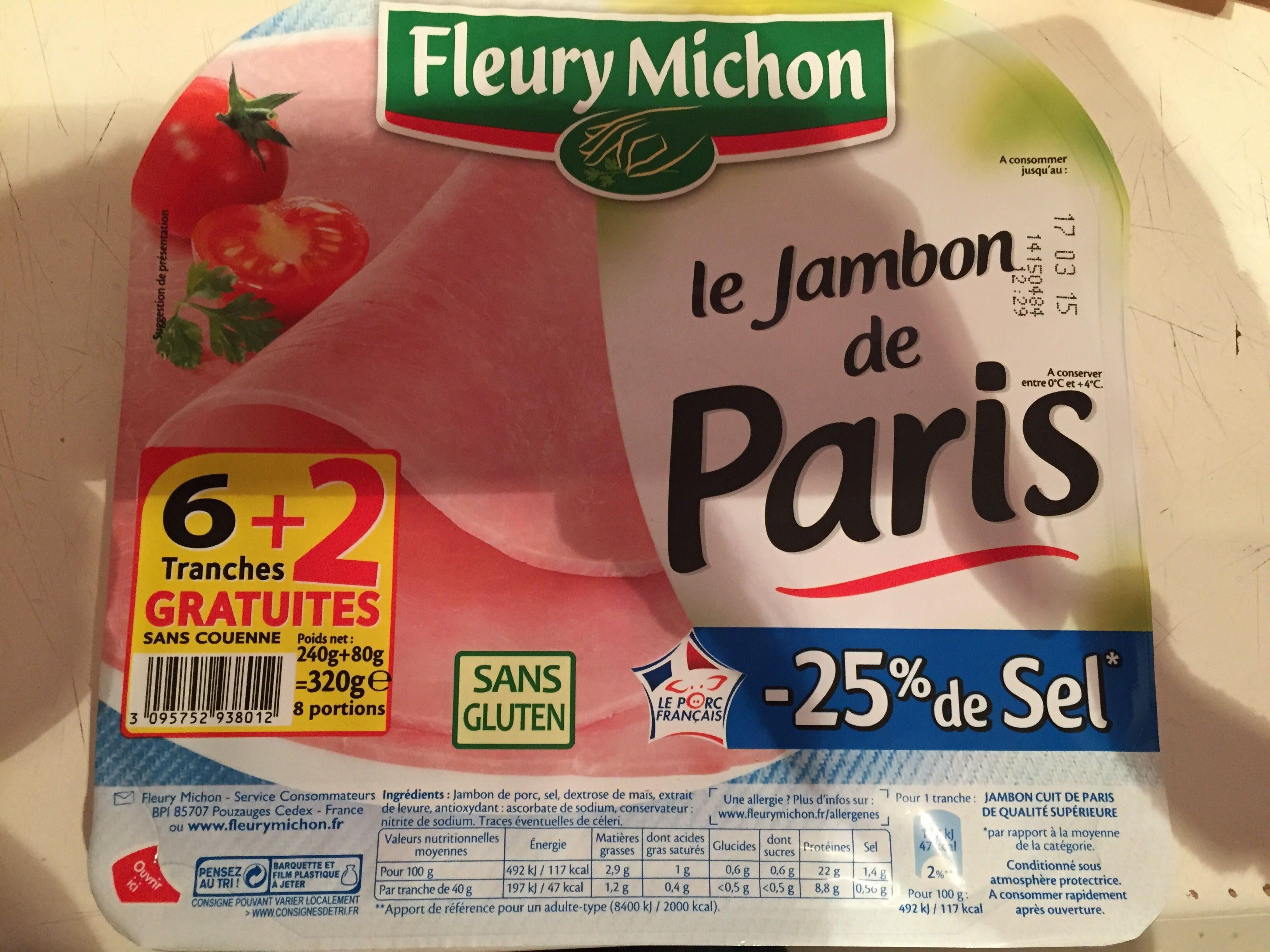 Le Jambon de Paris -25% de Sel - Product - fr