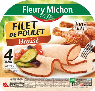Filet de poulet braisé - 4 tranches épaisses - Product