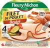 Filet de poulet braisé - 4 tranches épaisses - Produit