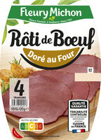 Rôti de boeuf cuit doré au four - 4 tranches - Prodotto - fr