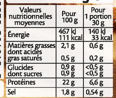 Filet de Poulet Rôti Halal - Nutrition facts