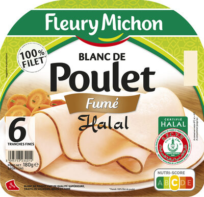 Blanc de poulet fumé Halal - 6 tr. - Produit - fr