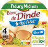 Blanc de dinde  - 25% de sel*- 100% Filet** - 4 tr - Product