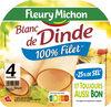 Blanc de dinde  - 25% de sel*- 100% Filet** - 4 tr - Produit