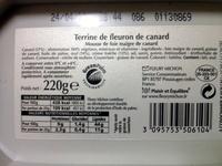 Terrine de fleuron de canard - Product