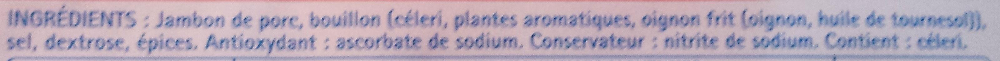 Le supérieur -25% de sel - Ingrédients - fr
