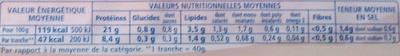 Le supérieur -25% de sel - Informations nutritionnelles - fr