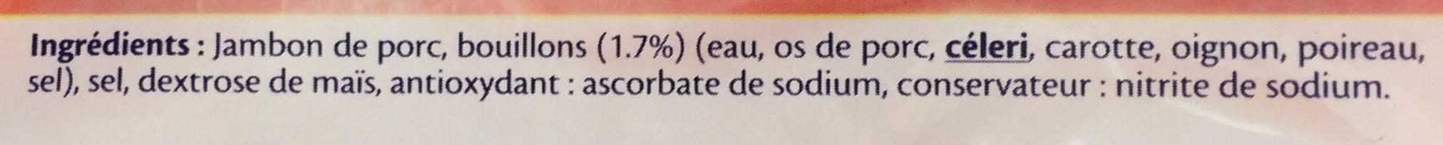 Le cuisiné à l'os recette Joël Robuchon - 2tr. - Ingrédients - fr