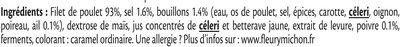 Rôti de poulet cuit 100% filet* - 2 tranches - Ingrédients - fr