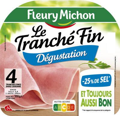 Le tranché fin DEGUSTATION - -25% SEL - 4 tranches - Produit - fr