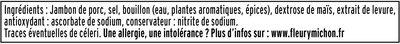 Le tranché fin DEGUSTATION - -25% SEL - 4 tranches - Ingrédients