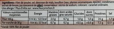 Filet de poulet rôti Halal - 4tr. - Ingredients