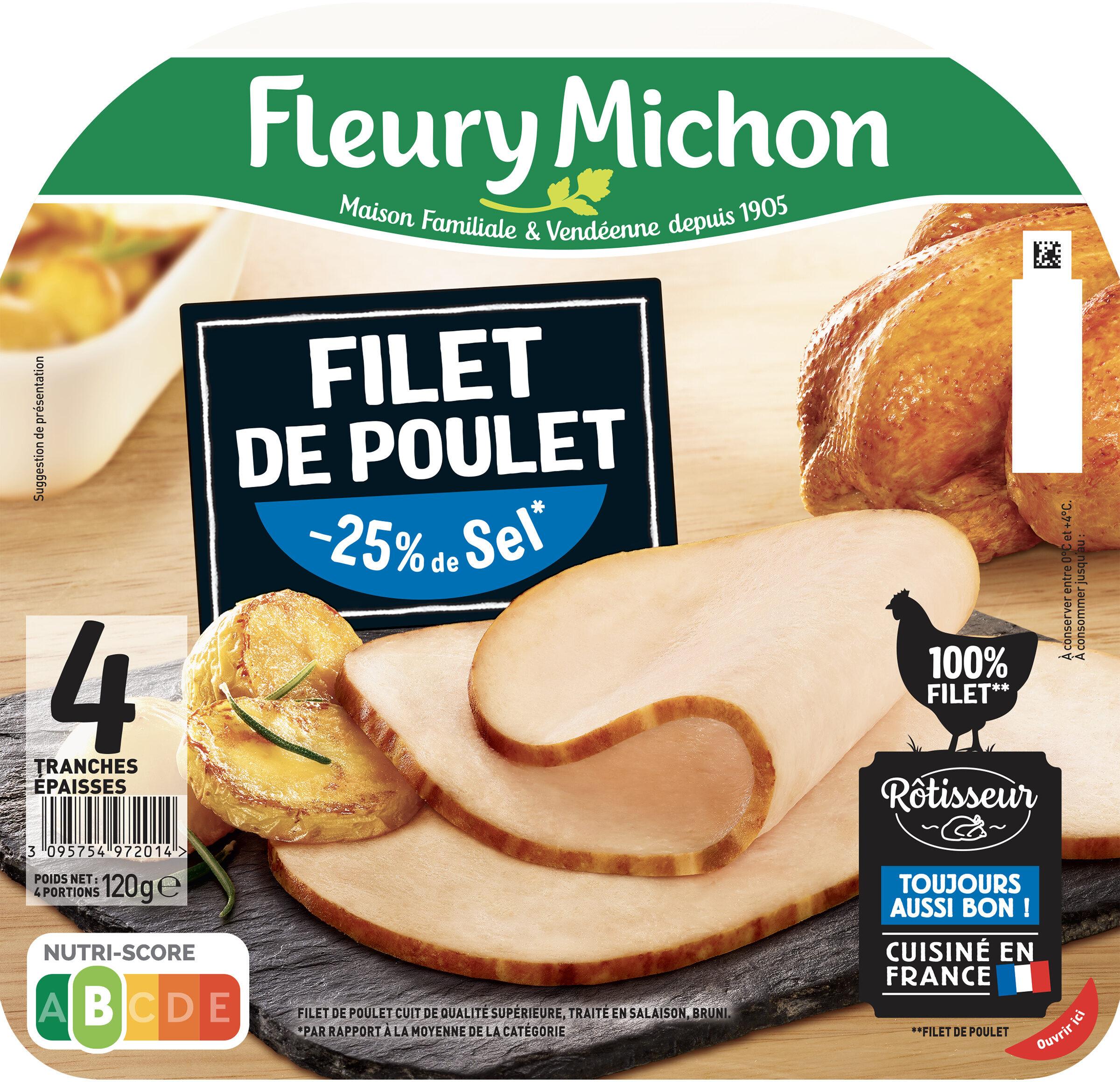 Filet de Poulet - 25% de Sel* - Product - fr