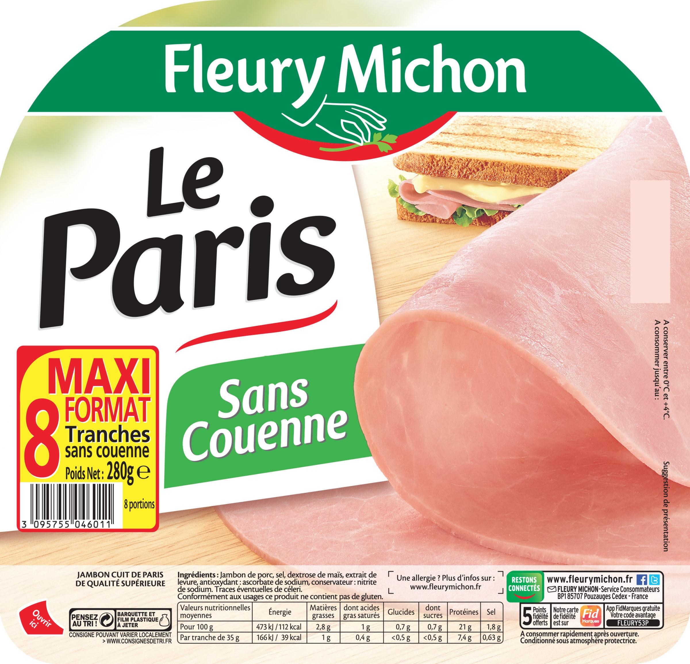 Le jambon de Paris sans couenne - 8 tr. - Product