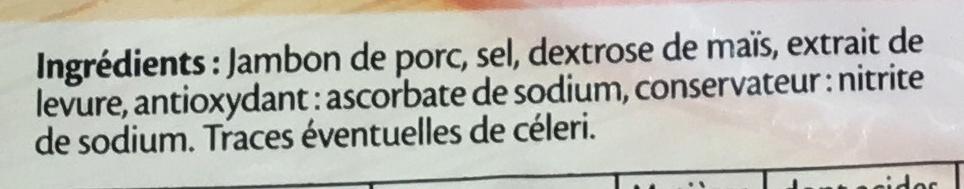 Le jambon de Paris sans couenne - 8 tr. - Ingredients