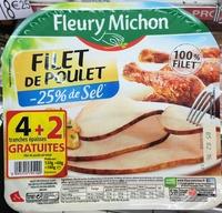 Filet de poulet (-25% de sel) (4+2 gratuites) - Produit - fr