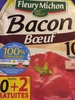 Bacon bœuf  10 Tranches - Product