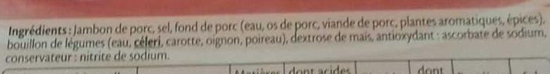 Le tranché fin Dégustation - 6tr. - Ingrediënten - fr