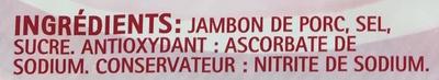Le Paris sans gluten, sans céleri - 4 tr. - Ingredients