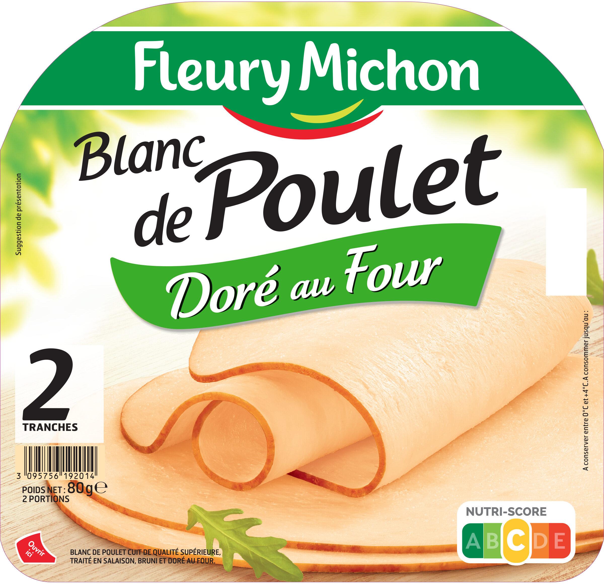 Blanc de poulet doré au four - 2 tranches - Produit - fr