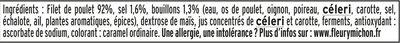 Blanc de poulet doré au four - 2 tranches - Ingrédients - fr