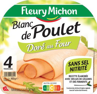 Blanc de poulet doré au four - Sans Sel Nitrité - 4 tr - Produit