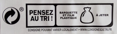 Blanc de poulet doré au four - 4 tr - Recycling instructions and/or packaging information - fr