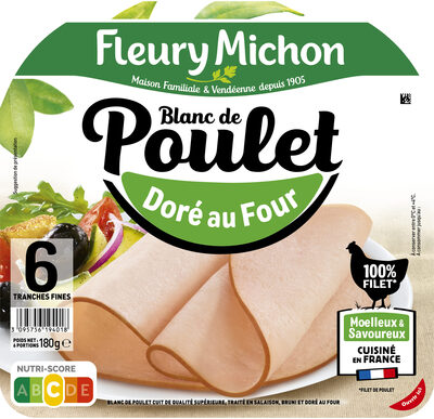 Blanc de poulet doré au four - 6 tranches fines - Prodotto - fr