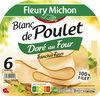 Blanc de poulet doré au four - tranches fines - Sans Sel Nitrité- 6 tranches fines - Produit