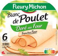 Blanc de poulet doré au four - tranches fines - 6 tranches fines - Product