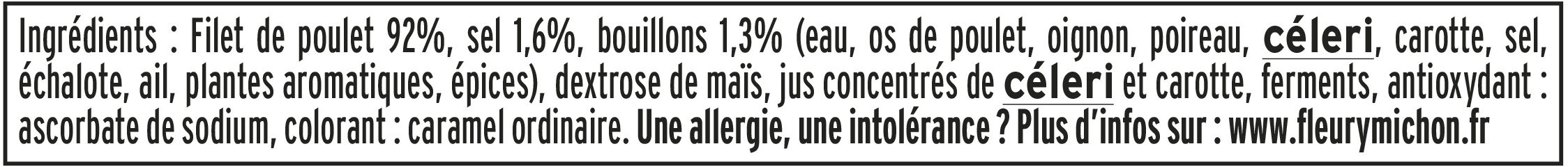 Blanc de poulet doré au four - 6 tranches fines - Ingrediënten - fr
