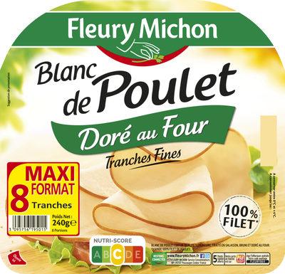 Blanc de poulet doré au four - 8 tranches fines - Prodotto - fr
